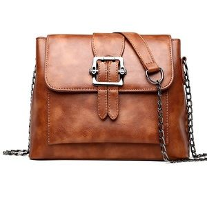 Handbags - NEW Brown Leather Shoulder Crossbody Purse